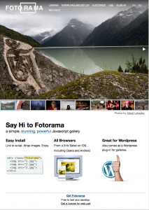 Fotorama Web Site Home Page