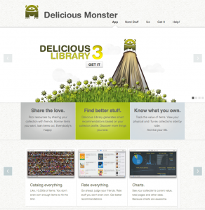 Delicious Library 3 Website