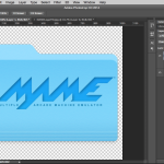 Photoshop add fx to the logo layer
